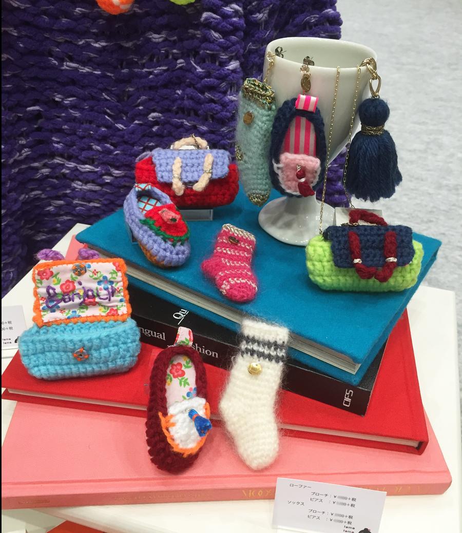 Display3-1 プレッピーニットアクセサリー  サッチェルバッグ / ローファー / ソックス preppy crocher accessories satchel / loafers / socks