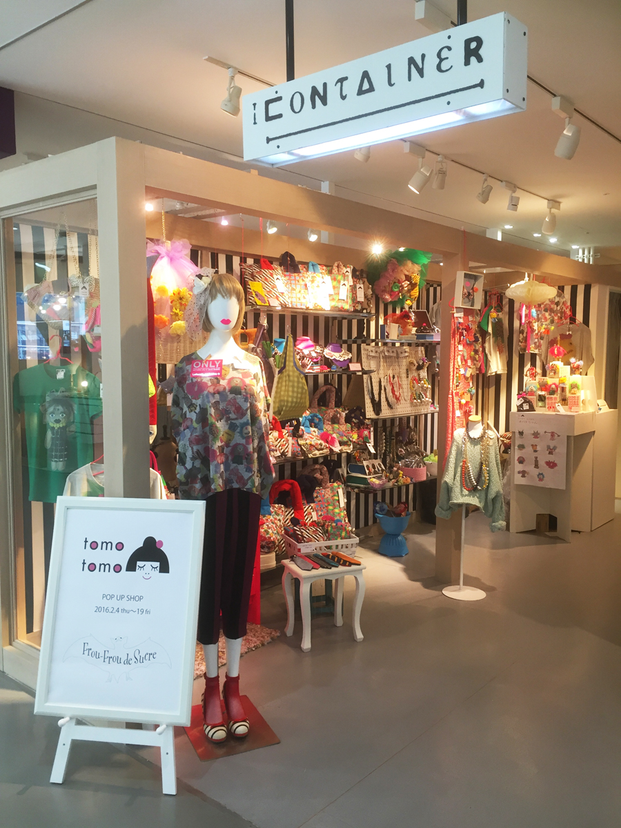 tomotomo-1st pop up shop at Laforet HARAJUKU.